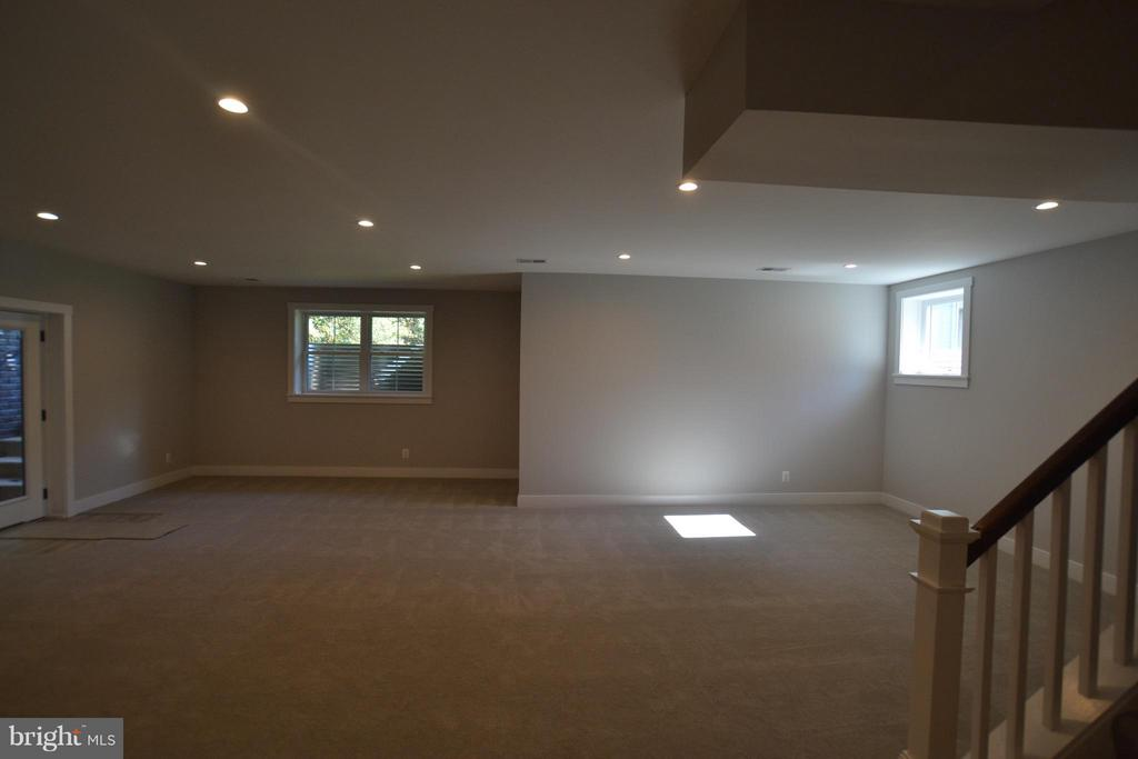 LARGE FINISHED BASEMENT - 206 MARSHALL ST, FALLS CHURCH