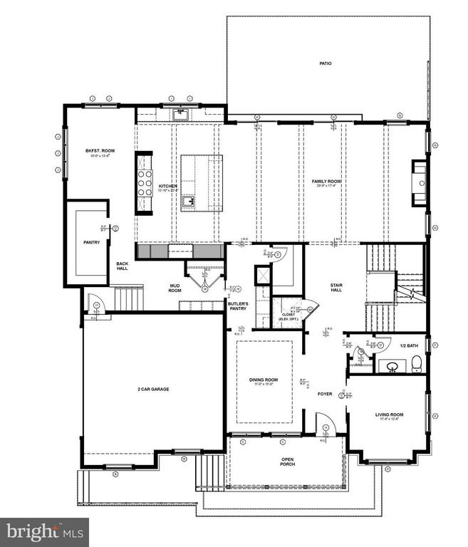 Main Level Floor Plan - 4101 RICHMOND ST, ARLINGTON