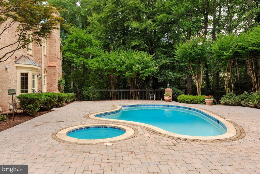 Lovely Pool with Spa - 1125 BROOK VALLEY LN, MCLEAN