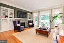 EXPANSIVE FAMILY ROOM W FIREPLACE - 5708 LITTLE FALLS RD N, ARLINGTON