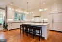 GOURMET KITCHEN WITH ISLAND - 5708 LITTLE FALLS RD N, ARLINGTON