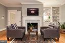 OWNERS SUITE W FIREPLACE AND BUILT-INS - 5708 LITTLE FALLS RD N, ARLINGTON