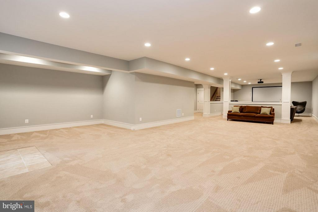NICE FINISHED LL W MEDIA ROOM - 5708 LITTLE FALLS RD N, ARLINGTON