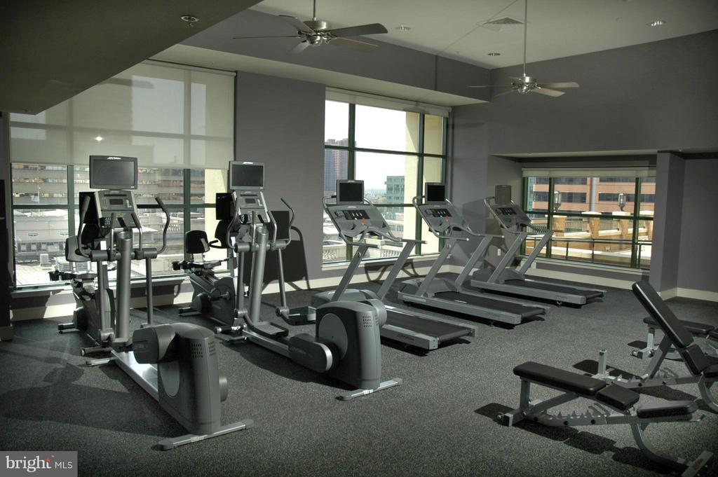 Fitness Center Bikes Treads Free Weights - 414 WATER ST #1812, BALTIMORE