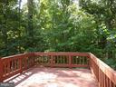 Deck with woodland view - 2166 WHISPERWOOD GLEN LN, RESTON