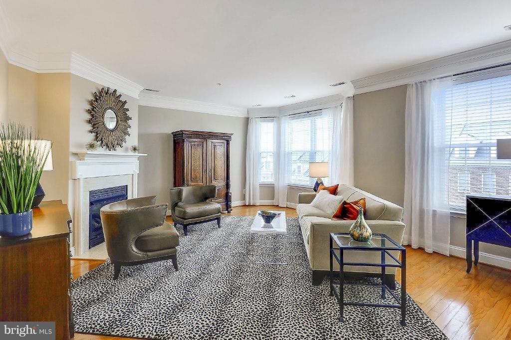 Living Room - 828 SLATERS LN #406, ALEXANDRIA