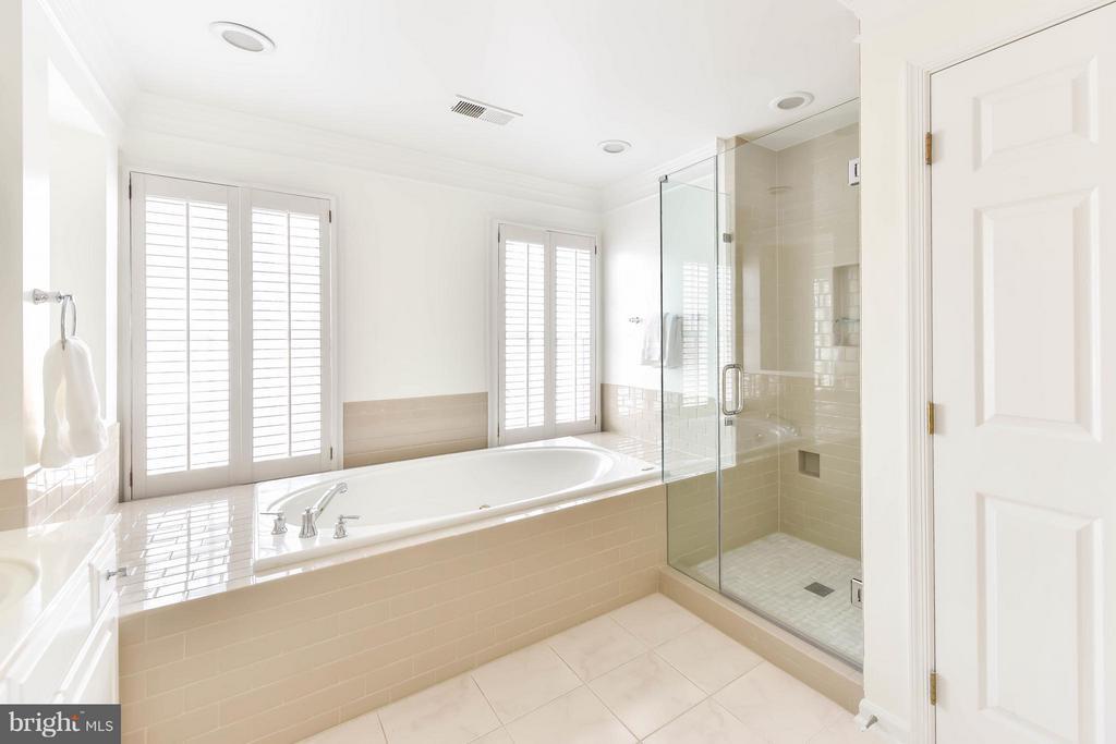 A seamless glass shower and a Jacuzzi bathtub - 36 ALEXANDER ST, ALEXANDRIA