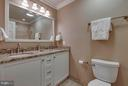 Hall bath has a soaking tub and is updated! - 1708 JUMPER CT, VIENNA