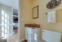 Main level half bath is so charming! - 1708 JUMPER CT, VIENNA