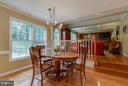 So much light pours into the eat in kitchen area! - 1708 JUMPER CT, VIENNA