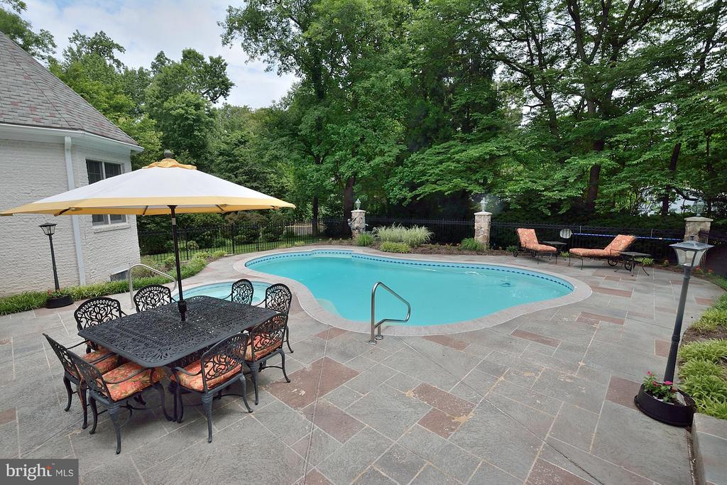 Poolside dining area - 3809 MILLCREEK DR, ANNANDALE