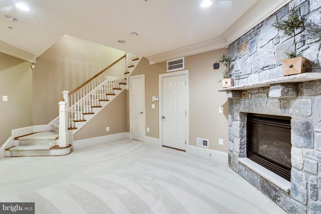 Rec Room with Stone Fireplace - 719 BRACEY LN, ALEXANDRIA