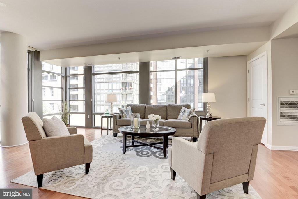 Living Room - 440 L ST NW #405, WASHINGTON