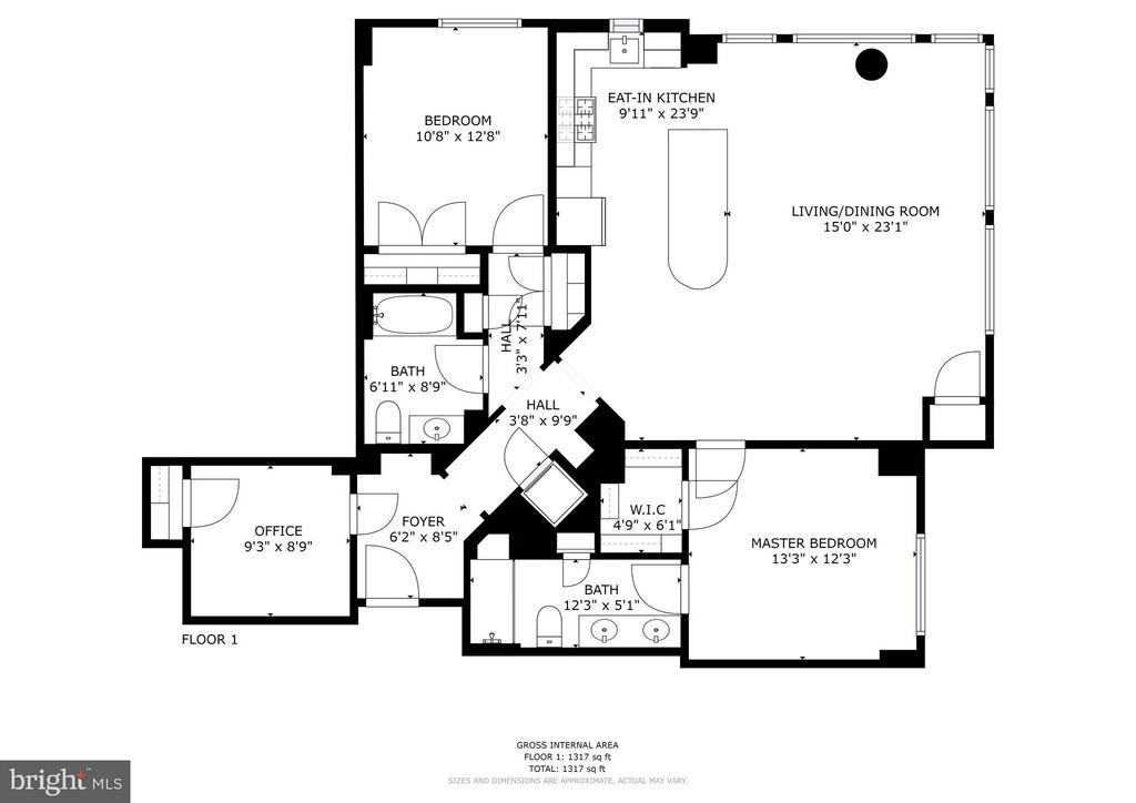 Floorplan - 440 L ST NW #405, WASHINGTON