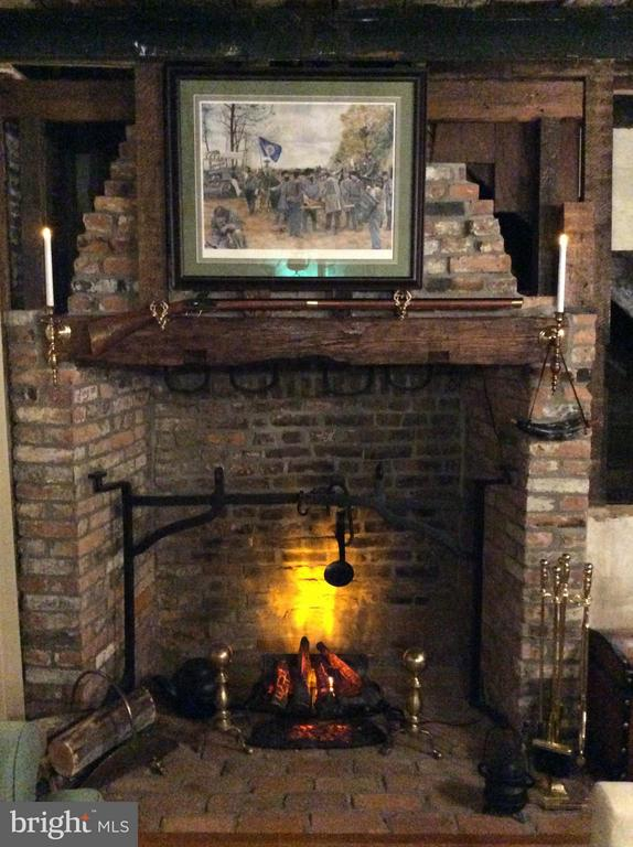 ORIGINAL FIREPLACE WITH BOTH HANGERS STILL IN TACT - 7814 ROCKY SPRINGS RD, FREDERICK