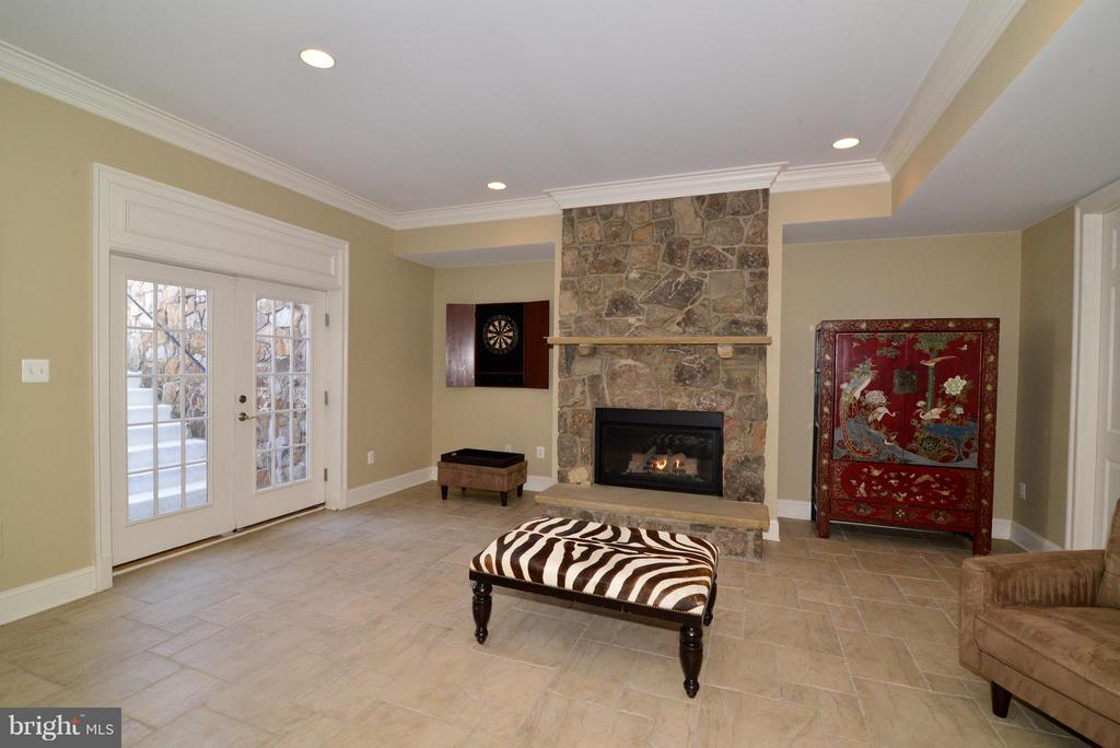 Basement has tile floor throughout finished area - 41738 PUTTERS GREEN CT, LEESBURG