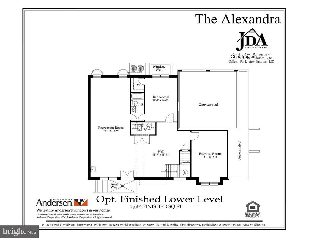 Optional Finished Lower Level Floor Plan - 10317 BURKE LAKE RD, FAIRFAX STATION