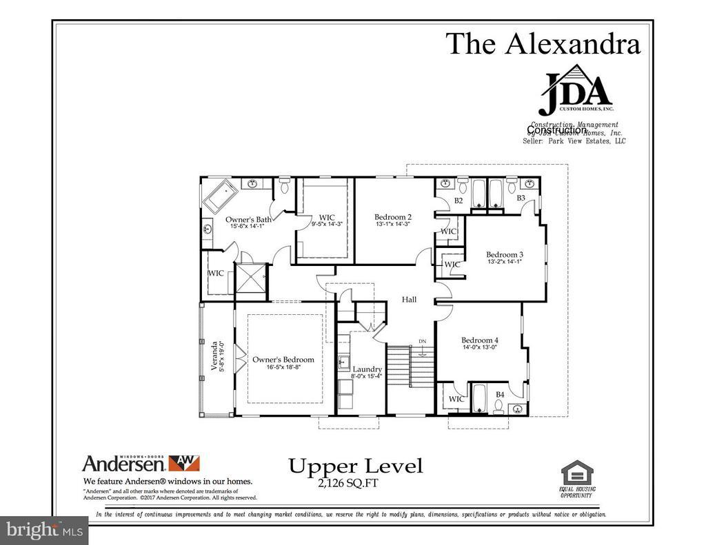 The Alexandra Upper Level Floor Plan - 10317 BURKE LAKE RD, FAIRFAX STATION