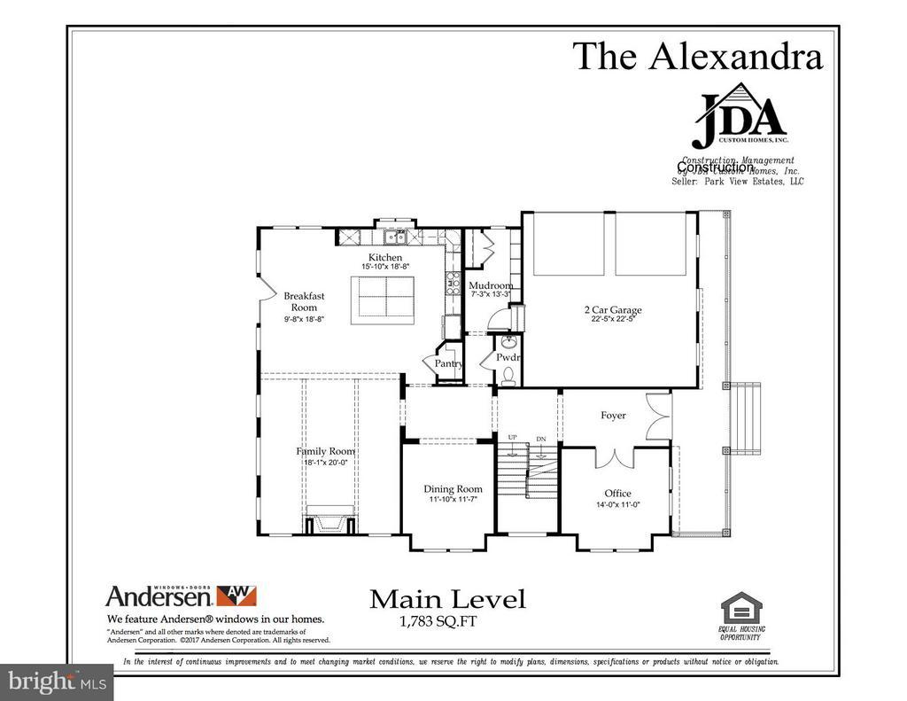 The Alexandra Main Level Floor Plan - 10317 BURKE LAKE RD, FAIRFAX STATION
