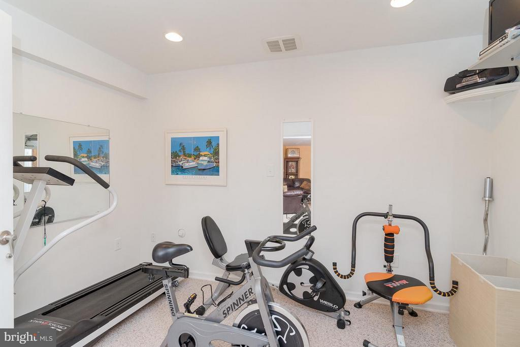 Exercise room in basement - 21 WENTWORTH DR, FREDERICKSBURG