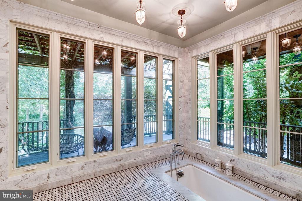Master Bath Shower Room with Sunken Tub - 412 CHAIN BRIDGE RD, MCLEAN