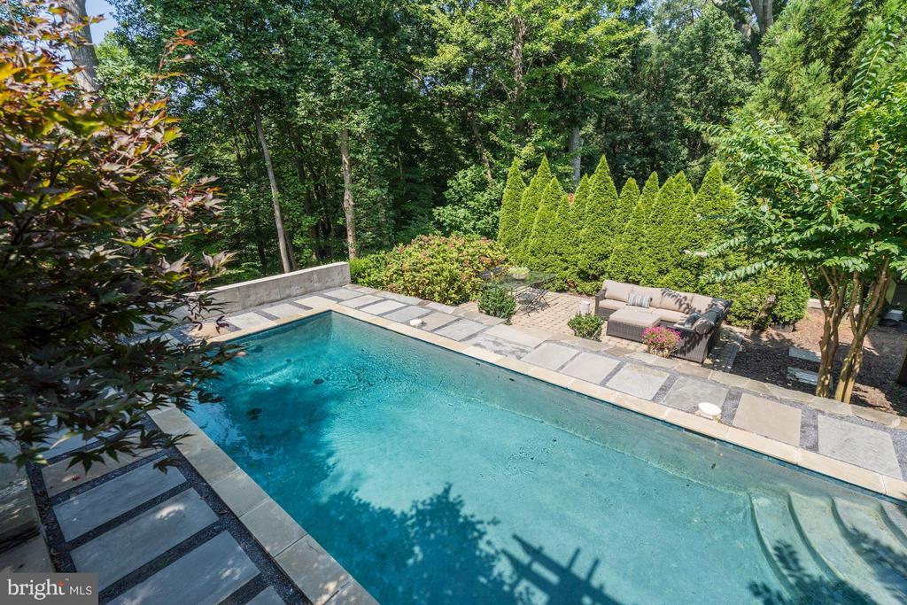 View of Pool - Private Rear Gardens - 412 CHAIN BRIDGE RD, MCLEAN