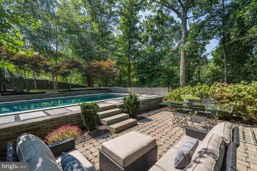 Outdoor Living / Dining Areas and Pool - 412 CHAIN BRIDGE RD, MCLEAN