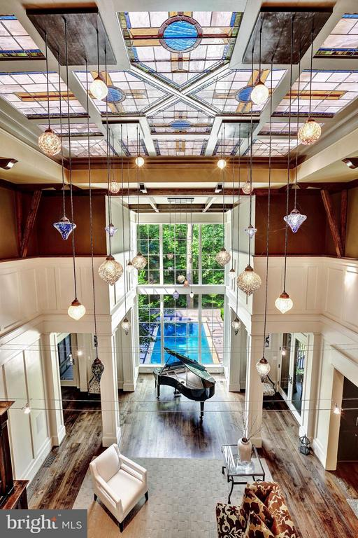 Great Room viewed from Above - 412 CHAIN BRIDGE RD, MCLEAN
