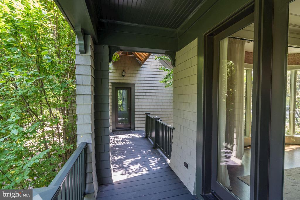 Covered Porch outside Dining Room - Access to Apt. - 412 CHAIN BRIDGE RD, MCLEAN