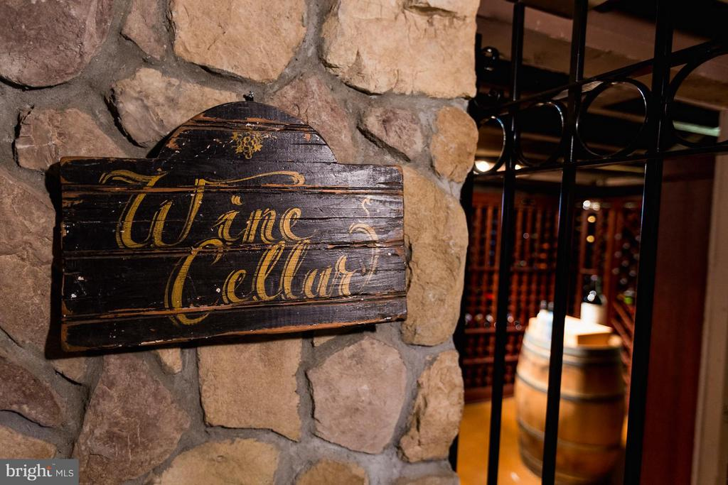 Wine Cellar in the lower level - 18490 BLUERIDGE MOUNTAIN RD, BLUEMONT