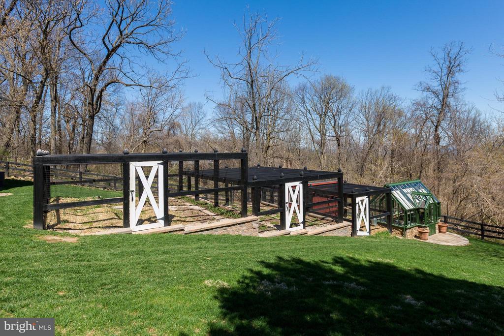 Fenced gardens, chicken coop, hartley greenhouse. - 18490 BLUERIDGE MOUNTAIN RD, BLUEMONT