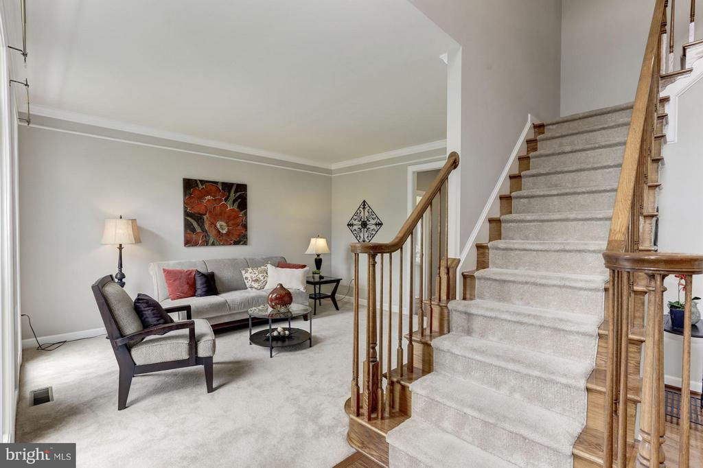 Elegant Foyer and Formal Living - 43046 CASTLEBAR ST, CHANTILLY