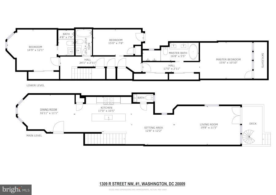 Floor Plans - 1309 R ST NW #1, WASHINGTON