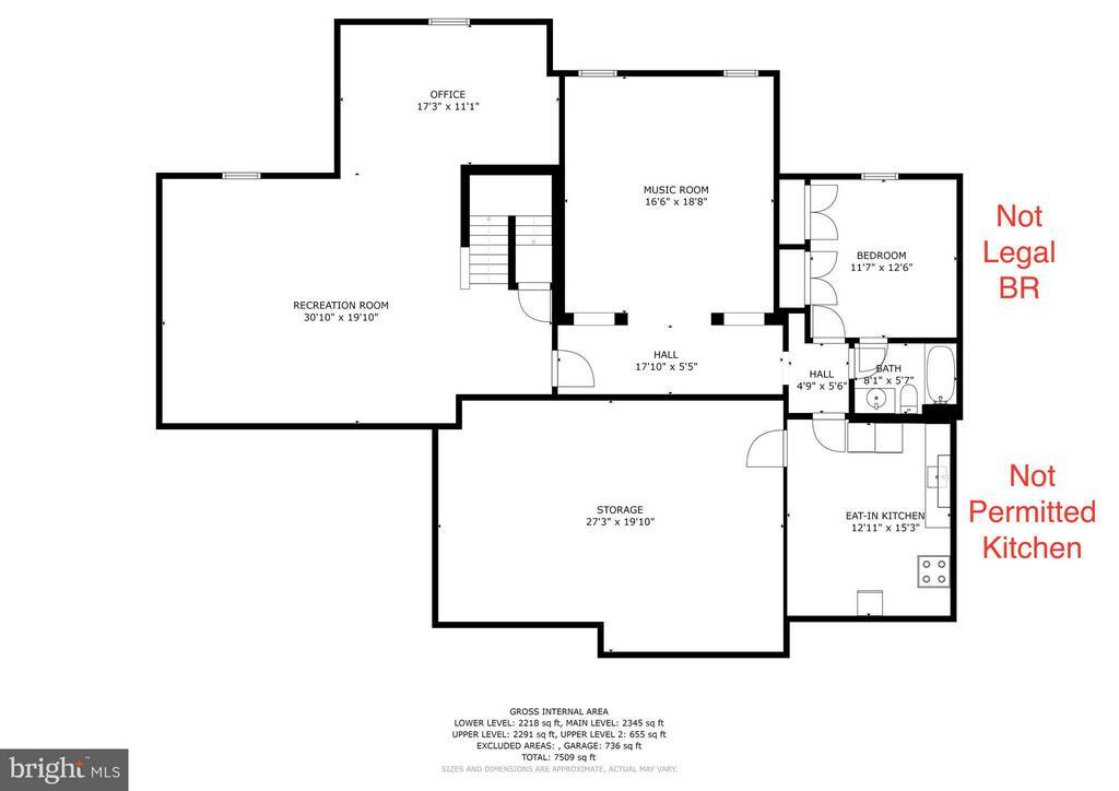 Basement Floor Plan - 5874 IRON STONE CT, CENTREVILLE