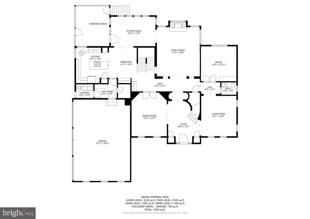 Main Level  Floor Plan - 5874 IRON STONE CT, CENTREVILLE