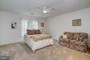 Bedroom with large closets, Jack and Jill Bath - 5874 IRON STONE CT, CENTREVILLE