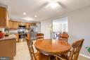 Large kitchen area with breakfast room - 8813 WAXWING TER, GAITHERSBURG