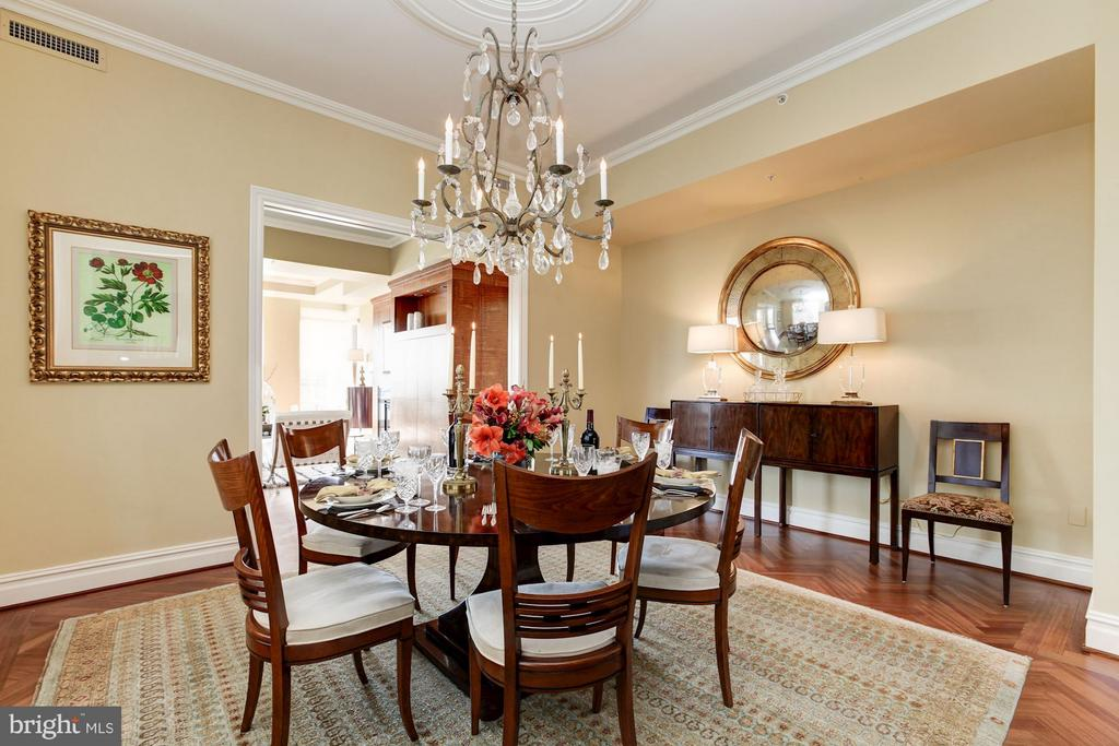 Formal Dining Room opens to Formal Living Room - 3150 SOUTH ST NW #PH2D, WASHINGTON