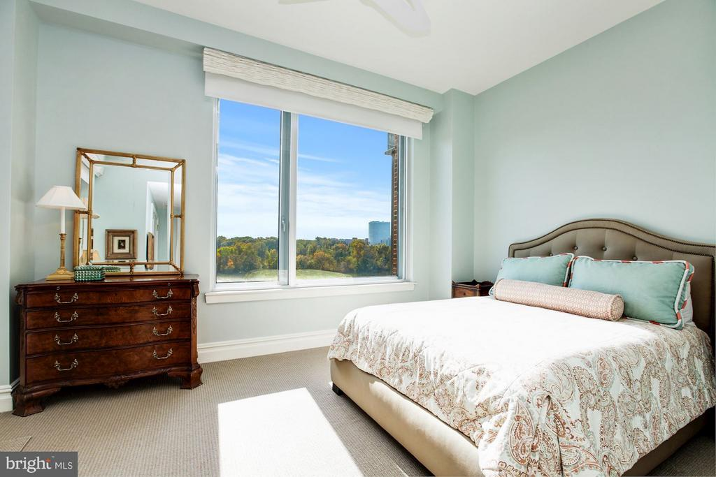 Bedroom Two with Potomac River Views - 3150 SOUTH ST NW #PH2D, WASHINGTON