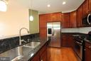 Kitchen with SS appliances and granite counters - 9551 SOUTH HALL TER, MANASSAS