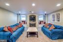 Fully Finished, Fully Custom Basement Level - 20660 PARKSIDE CIR, STERLING