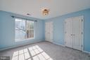 Huge Secondary Bedroom #2 on Upper Level - 20660 PARKSIDE CIR, STERLING