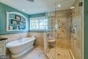 Oversize Frameless Glass Shower and Soaking Tub - 20660 PARKSIDE CIR, STERLING