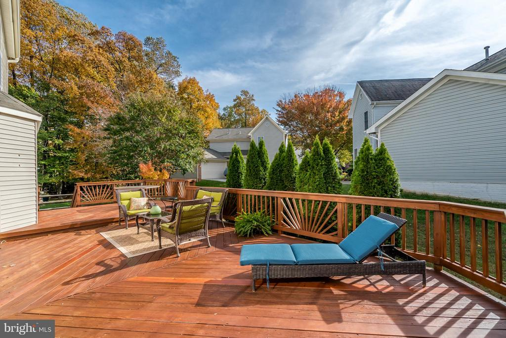 HUGE Deck Ideal for BBQ and Outdoor Entertaining - 20660 PARKSIDE CIR, STERLING