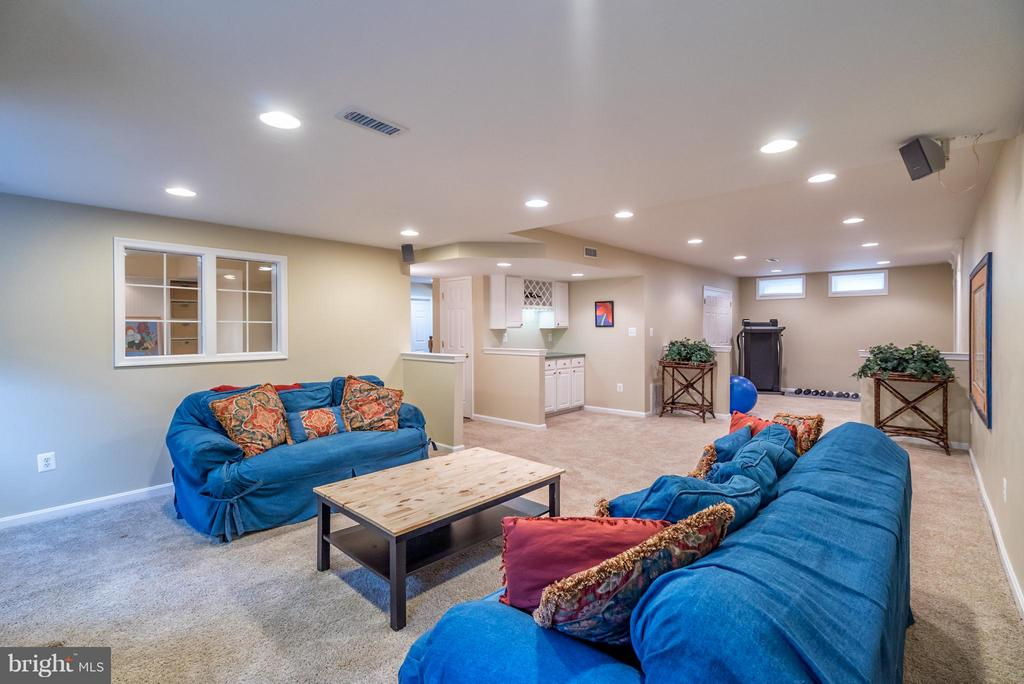 Custom EVERYTHING in this Basement! - 20660 PARKSIDE CIR, STERLING