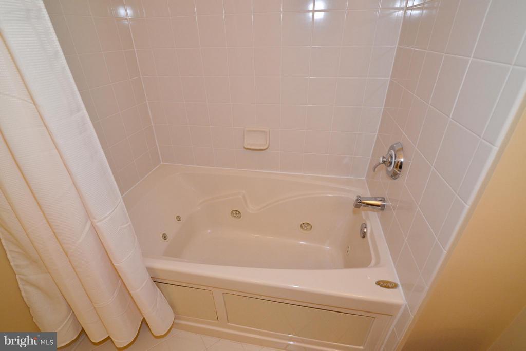 Jacuzzi tub in Bedroom #2 bathroom - 41707 PUTTERS GREEN CT, LEESBURG