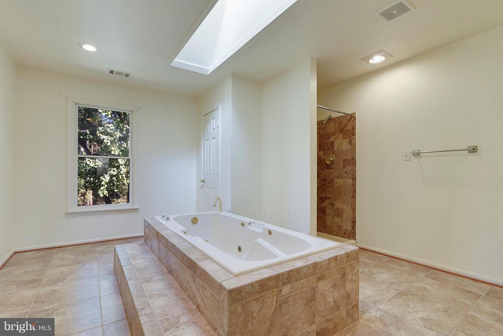 Mstr Suite Bath w/Walk-in Shower and Jacuzzi Tub - 1341 GORDON LN, MCLEAN