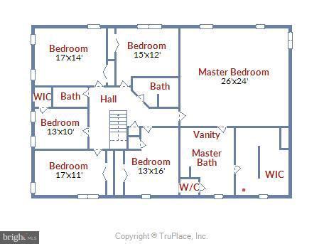 Floor Plan - Upper Level - 1341 GORDON LN, MCLEAN