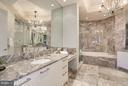 Marble Master Bath w/Dual Sinks & Make-Up Vanity - 1881 N NASH ST #2102, ARLINGTON