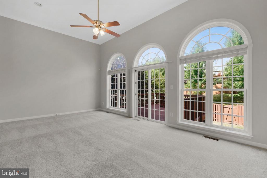 Beautiful Palladian Windows showing the backyard! - 24643 CLOCK TOWER SQ, ALDIE